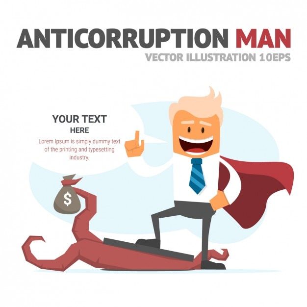 Anticorription Man Template Free Vector
