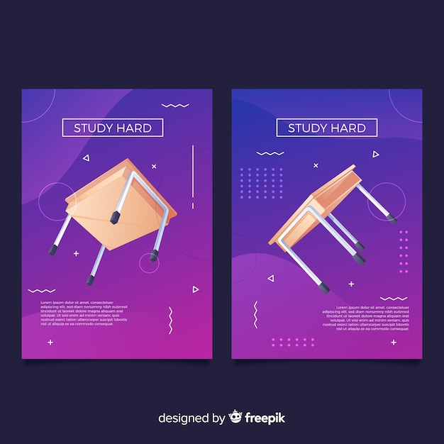Antigravity geometric shapes covers Free Vector