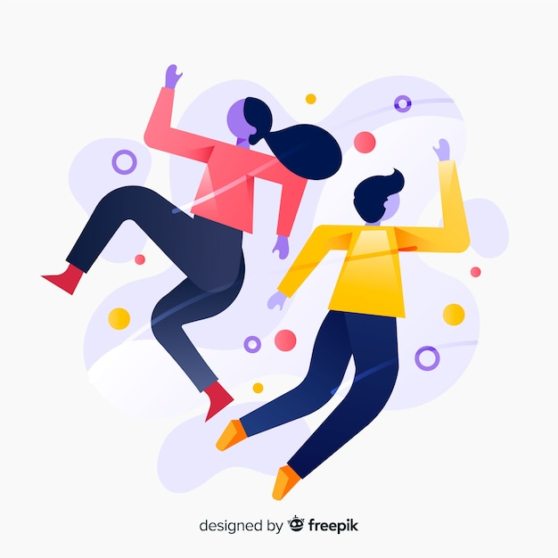 Antigravity people Free Vector