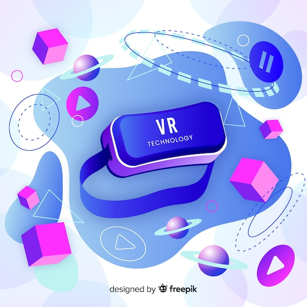 Antigravity technology with elements Free Vector