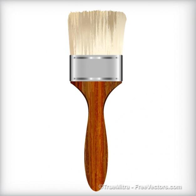 Antique brush instrument Free Vector