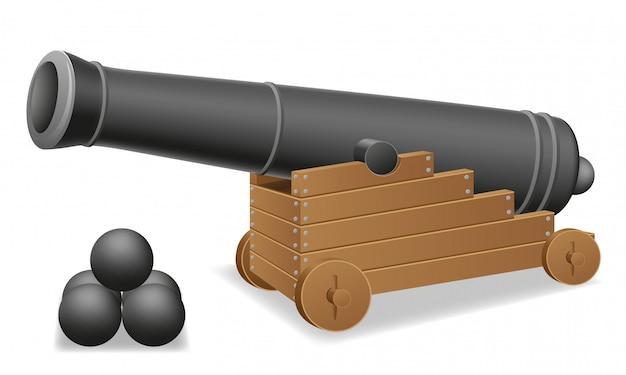 Antique cannon vector illustration Premium Vector