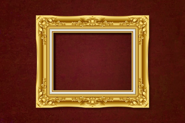 Antique gold frame Free Vector