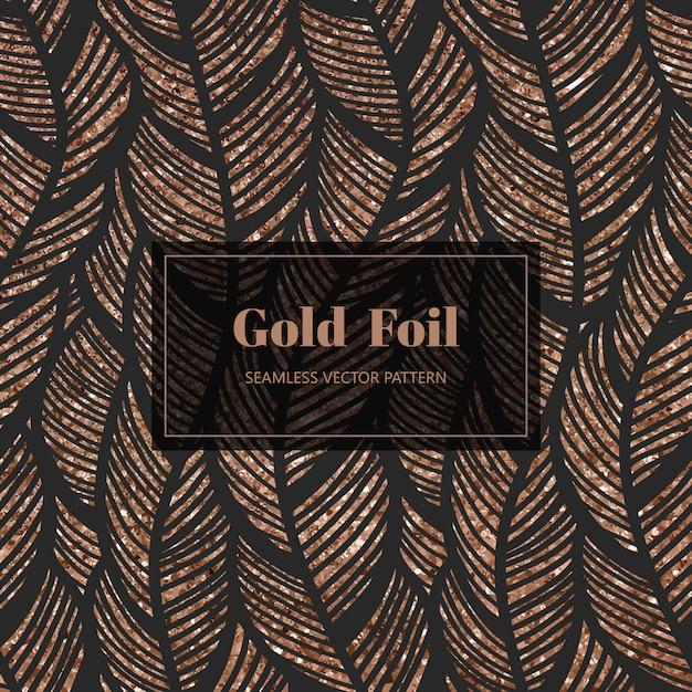 Antique gold pattern Premium Vector