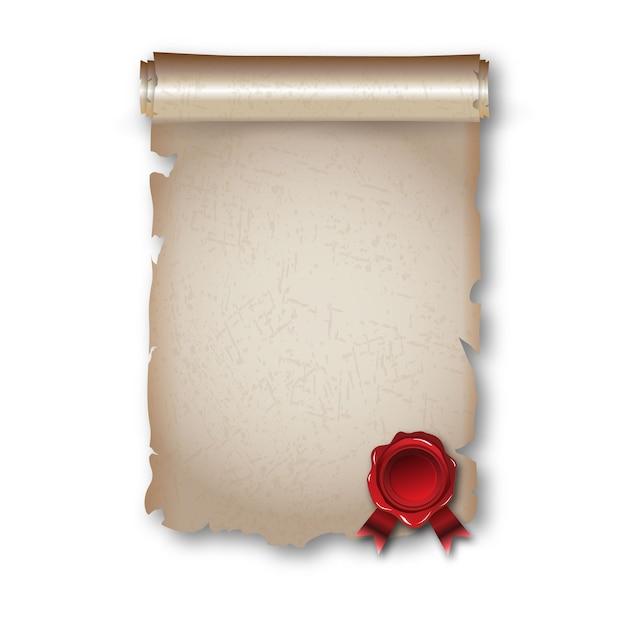 Antique historical paper scroll Premium Vector