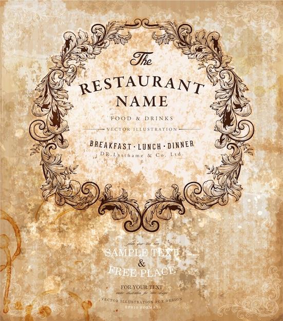 antique text symbol elegant cafe Premium Vector