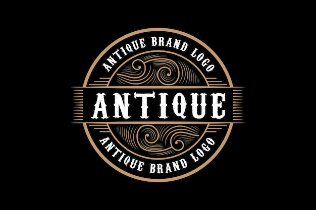 Antique vintage retro luxury heraldic victorian calligraphic logo with ornamental frame Premium Vector