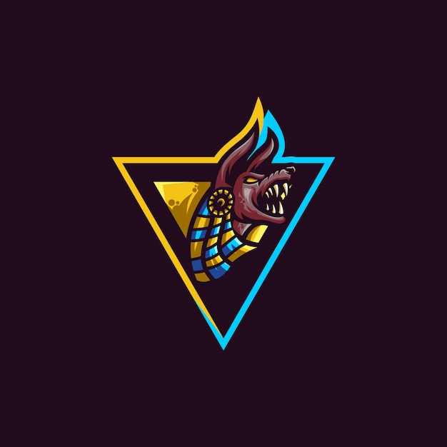 Anubis logo slogan here Premium Vector
