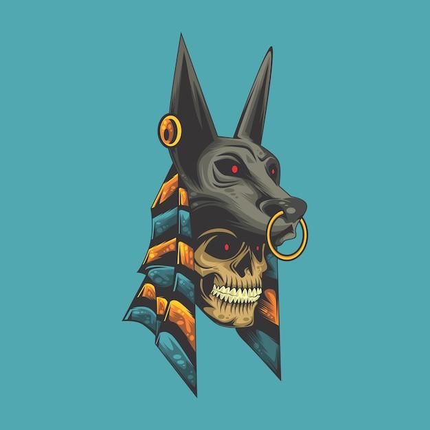 Anubis skull Premium Vector