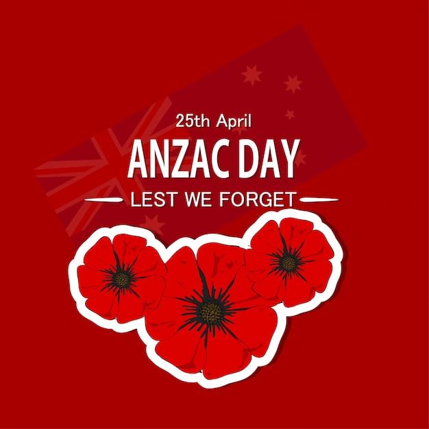 Anzac day background Premium Vector