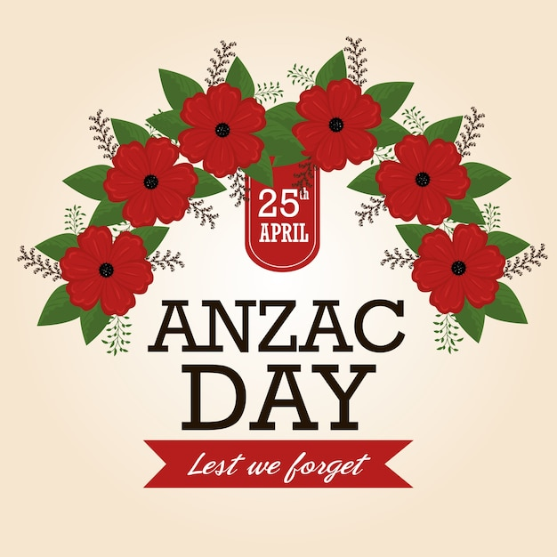 Anzac day poster with red poppy flower vector premium download anzac day poster with red poppy flower premium vector mightylinksfo