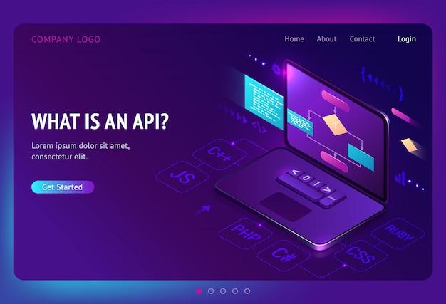 Apiアプリケーションプログラミングインターフェイス等尺性 無料ベクター