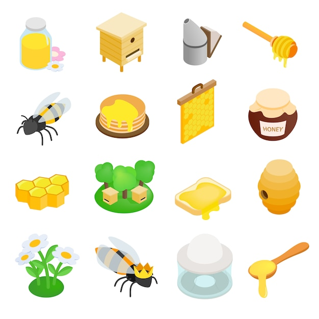 Apiary isometric 3d icon Premium Vector