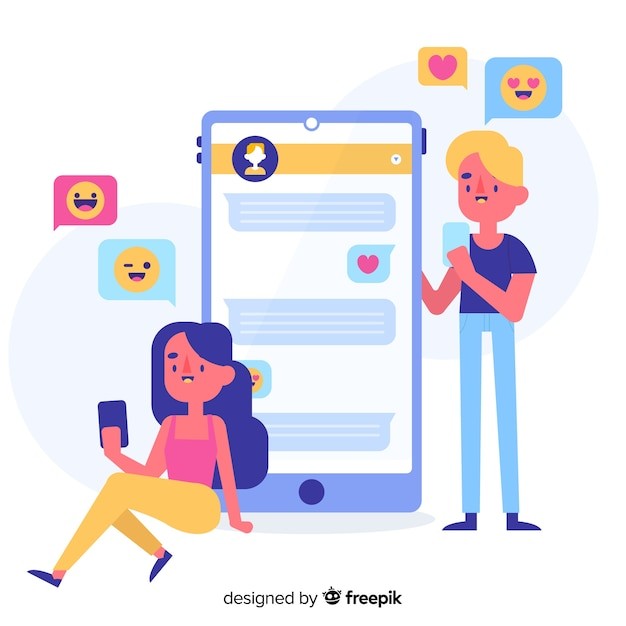 App for dating concept illustrated Free Vector