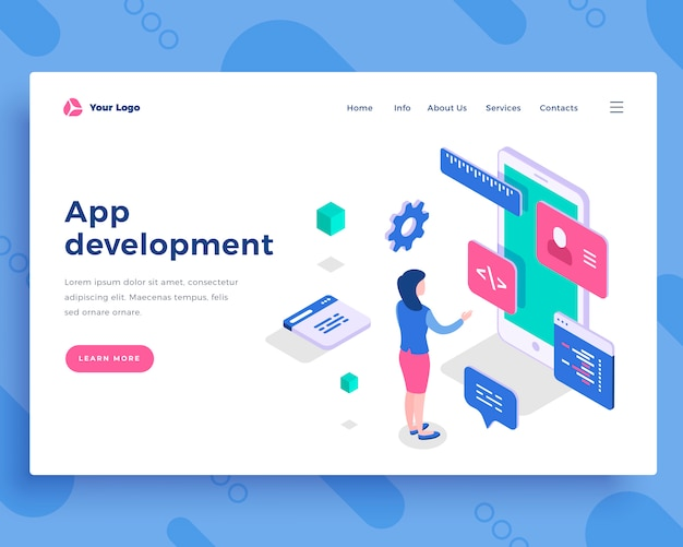 App development concept Premium Vector