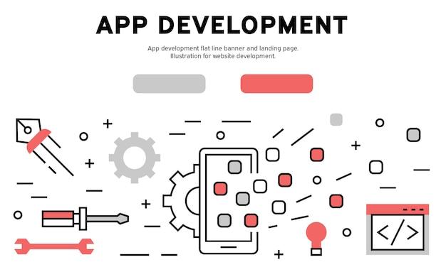 App development web infographic Premium Vector