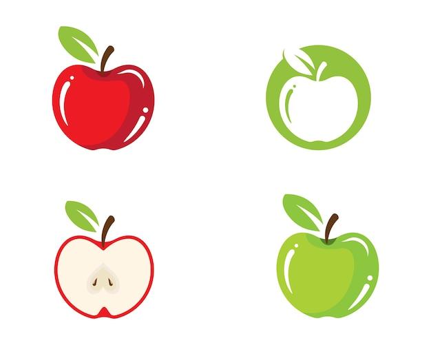 Значок дизайна иллюстрации apple Premium векторы