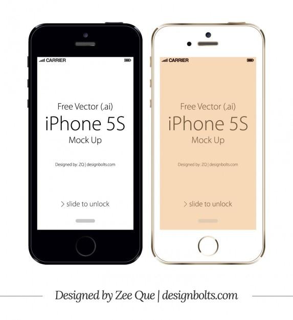 apple iphone 5s mockup free vector - Iphone 5s Mockup Free