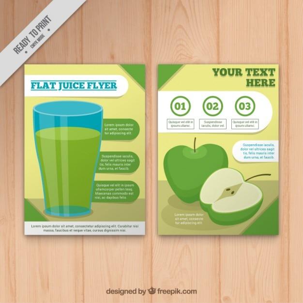 Brochure succo di mela Vettore gratuito