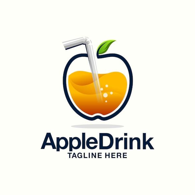 Apple juice logo Premium Vector