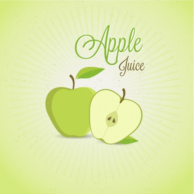 Apple juice Free Vector