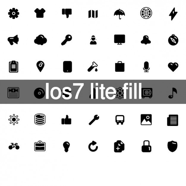 Apple lite fill icons Free Vector