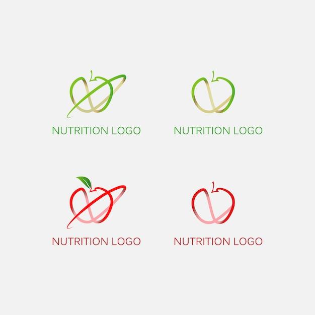 Apple logo collection Free Vector