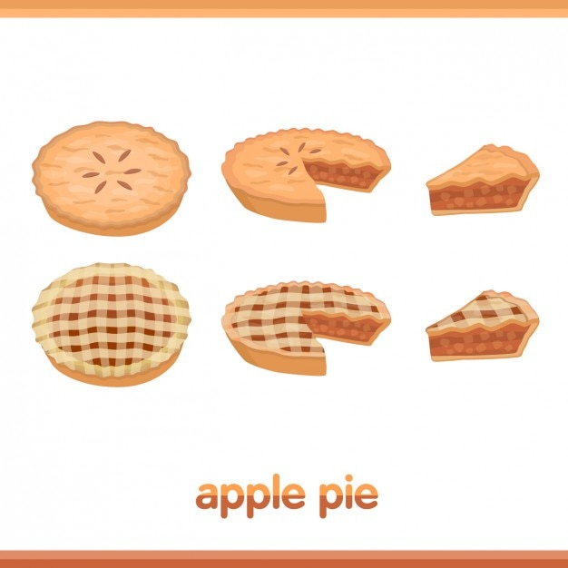 Apple pie collection Free Vector
