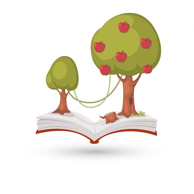 The apple tree book Premium Vector