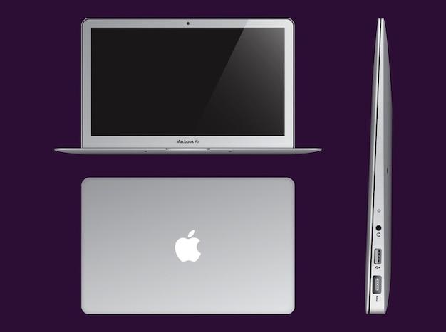 Apple ultrabook computer logo vector Free Vector