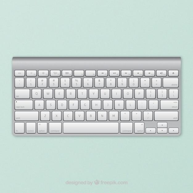 Apple wireless keyboard Free Vector