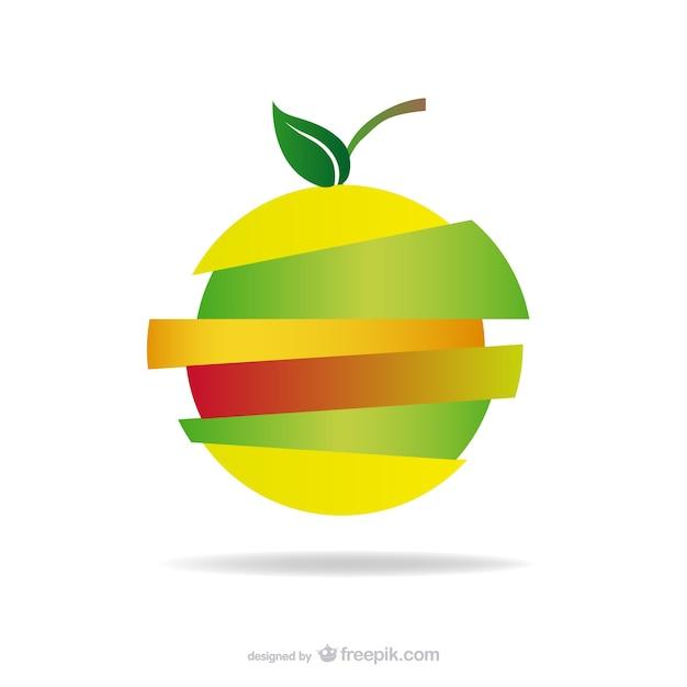 Appleロゴスライスされたデザインの無料ダウンロード 無料ベクター