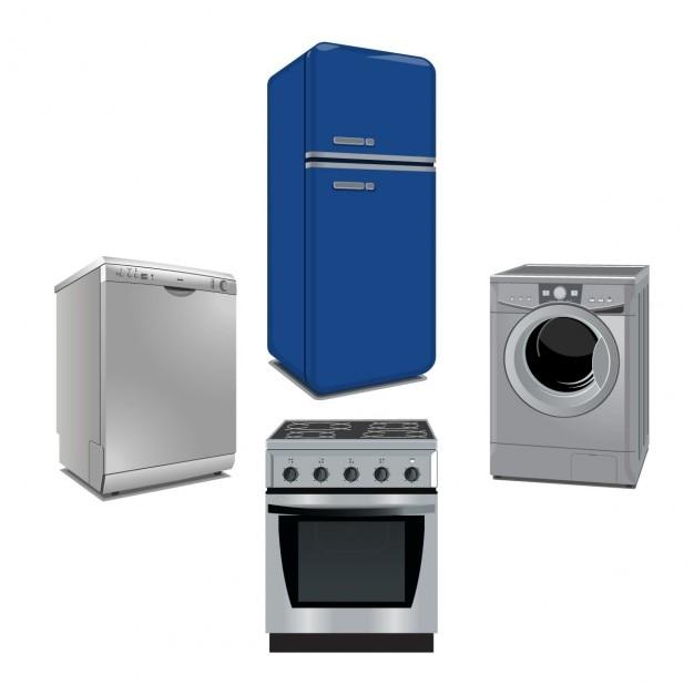 Collezione appliances Vettore gratuito