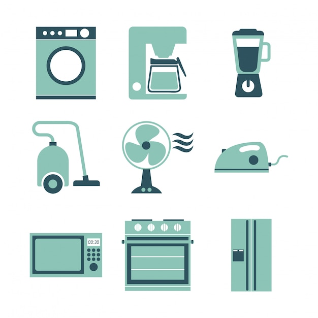 Appliances design over white background vector illustration Premium Vector