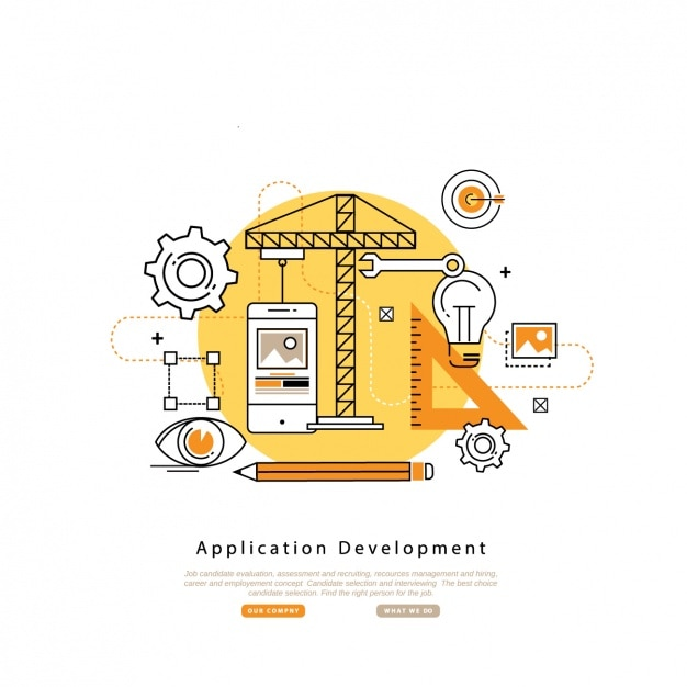 Application development background Free Vector