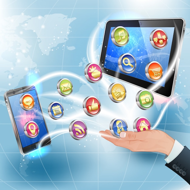 Приложения для мобильных платформ Premium векторы