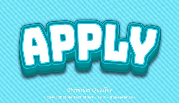 Apply  editable text style effect Premium Vector