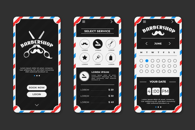 Appointment booking for barber shop Free Vector