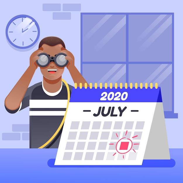 カレンダーの予定予約を示しています 無料ベクター