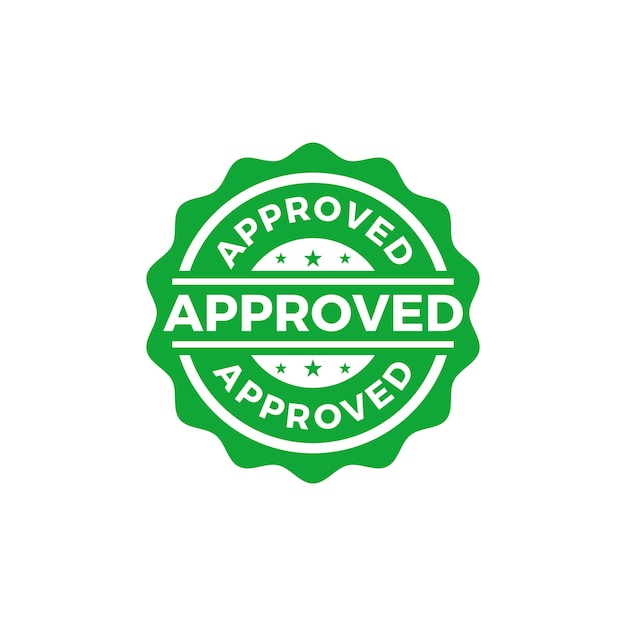 Approved seal stamp vector Premium Vector