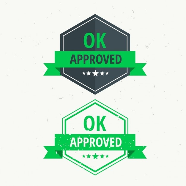 Approved seals Free Vector