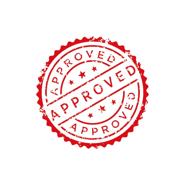 Approved stamp vector Premium Vector