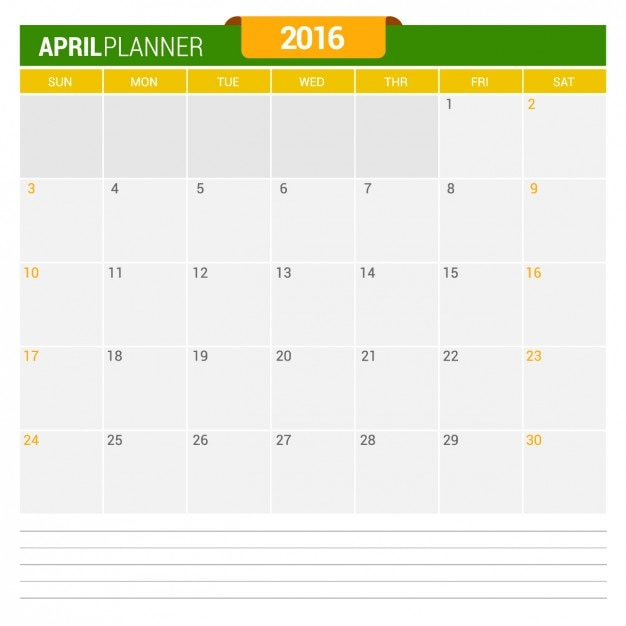 Calendar April Vector : April calendar vector free download
