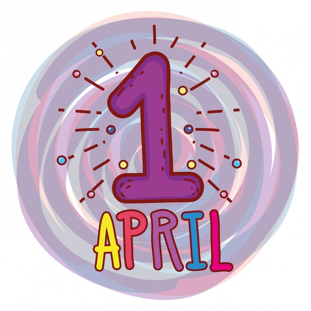 April first to fools day celebration Premium Vector