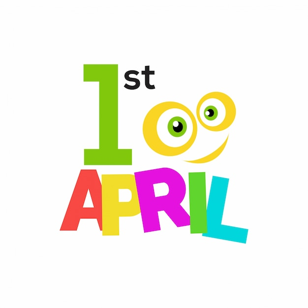 April fool's day, funny colorful background Free Vector