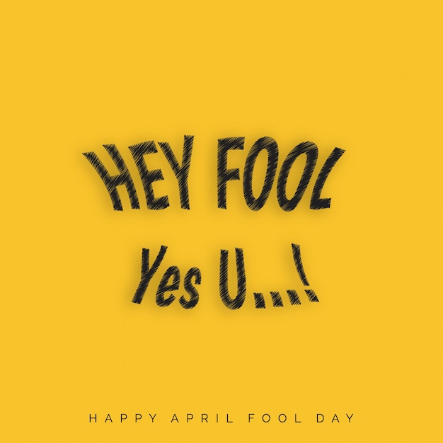 April fool's day, funny yellow background Free Vector