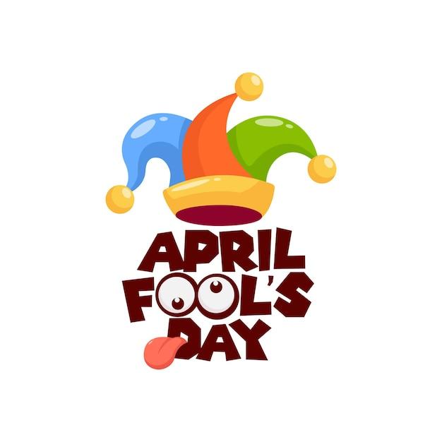 April fool's day illustration Premium Vector