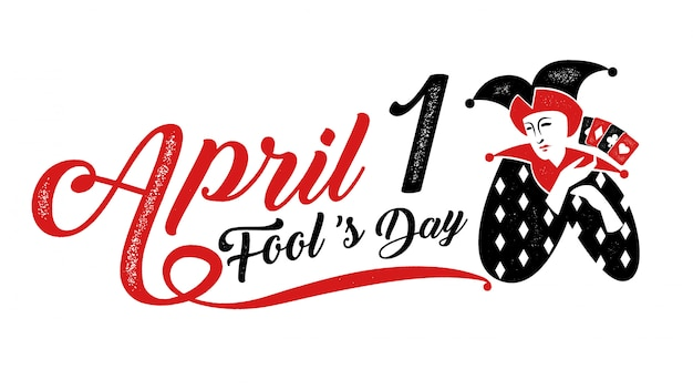 April fool's day Premium Vector