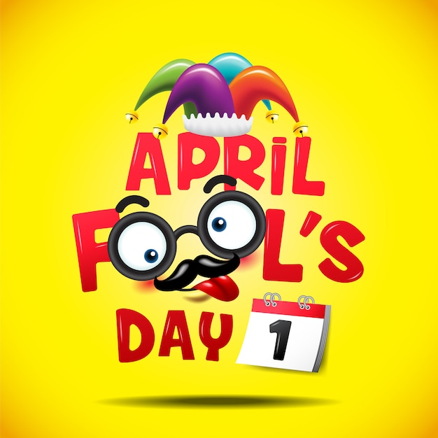 April fool's day Premium Vector