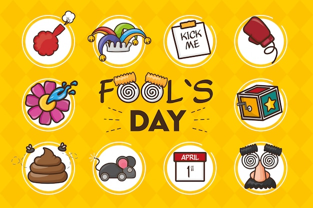 April fools day background Free Vector